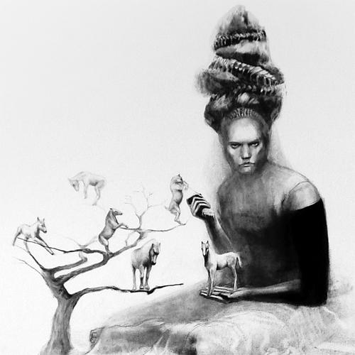 Lorene Taurerewa - Charcoal Drawings